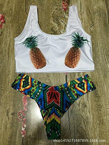 CU@EY Women's Stil Design Unique Bikini Badeanzug komfortable Stil neuartige Qualität gut für die Party Freizeit Urlaub Schwimmen Strand Ausübung oder andere Anlässe White