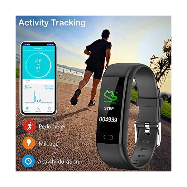 Pulsera Actividad - Reloj Inteligente Monitor de Ritmo Cardíaco Impermeable Fitness Trackers con Monitor de sueño… 6