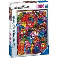 Ravensburger Italy 196302 - Puzzle Laurel Burch Fantastici Felini, 1000 Pezzi, Multicolore