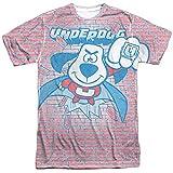 Underdog Burst (delantera y trasera) de impresión–sublimación camiseta