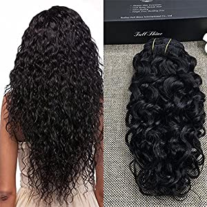 Full Shine 18 Pouce Clip Tête Pleine en Extension de Cheveux Humains 7Pcs 100g Naturel Noir Ondulé Wavy Natural Black Colour Clip in Human Extension 7Pcs 100grams