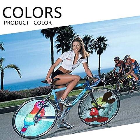 Waterproof Cycling Wheel Light 64 LED Full Colorful Bicycle Spoke