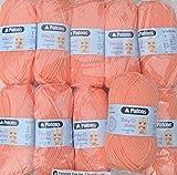 500g Wollpaket, 10x50g Schachenmayr Patons Baby Smiles dk Fb. 01024 - apricot, Babywolle zum Stricken und Häkeln, Wollpakete Sonderposten