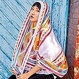 Sciarpa regalo a muffola Sciarpa estiva estiva scialle protezione solare sciarpa nazionale vento nazionale doppio uso sciarpe vacanza al mare (Dimensioni: A) Sciarpa di moda ( Dimensione : A )