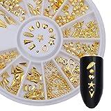 Coulorbuttons 1foglio oro rivetto Phone 3D per unghie nail borchie misto modello decorazione #1