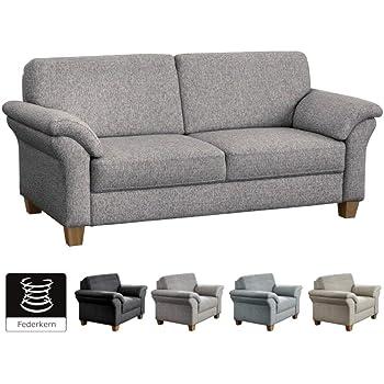 Cavadore 3 Sitzer Byrum Im Landhausstil Grosses Sofa Mit Federkern