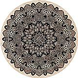Cuadros Lifestyle 2D-Wandobjekt aus Holz   Mandala   Ornament   Wandteller   Holzbild   Shabby-Look   Landhaus   Vintage   Holzobjekt   Deko   Holzdruck   Geschenk, Größe:ca. 40x40cm
