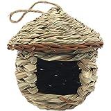 Dasing Grass Bird Hut, Lieu de Repos Confortable pour Les Oiseaux, Offre Un Abri Contre Le Temps Froid, Nichoirs TisséS à la