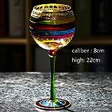 XBJBPL Rotweingläser/Sektgläser/Rotweinglas,Farbige Zeichnung Große Champagne Flute Glas Kristall Tasse Rotweingläser Stemware Für Vodka Tassen Hoem Bar Hotel Party Drinkware, C301-400Ml