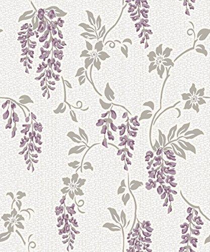 holden-dcor-shiro-floral-leaf-flower-motif-glitter-embossed-wallpaper-heather-white-75681-by-holden-
