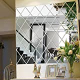 erthome DIY Removable 3D Mirror Flower Art Wall Sticker Acrylic Mural Decal Home