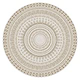 Beige ronde vloerkleed Boheemse tapijten 80100120140160200250 300cm Diameter binnen Vloermat Mat wasbaar in de machine-300cm
