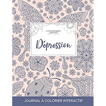 Journal de Coloration Adulte: Depression (Illustrations D'Animaux Domestiques, Coccinelle)