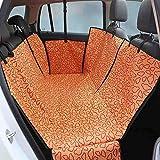 Großer Hundesitzbezug-Heavy Duty & Wasserdicht, Hundehalsband Universal Fit In Suvs, Autos & Fahrzeuge (130 * 150 * 55),Orange