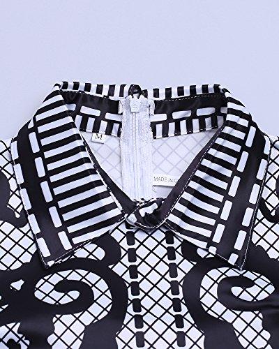 Whoinshop -  Vestito  - fasciante - Maniche lunghe  - Donna Black