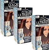 3x SCHWARZKOPF COLOR ULTIMATE 465 - DUNKLES SCHOKOBRAUN - Dauerhaft anwendbare Schaumcoloration