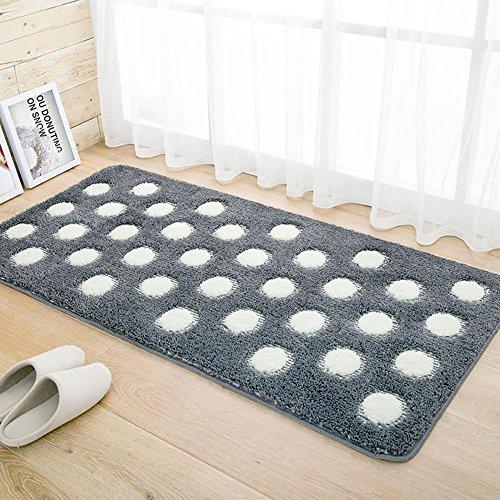 Sannix super morbido tappetino da bagno in microfibra Shag bagno tappeti da cucina antiscivolo assorbente (Rust Brown Set Esterno)