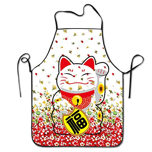 Maneki-Neko Japanese Design Cooking Funny Apron For Kitchen BBQ Barbecue Cooking Grilling Tailgate Bacon