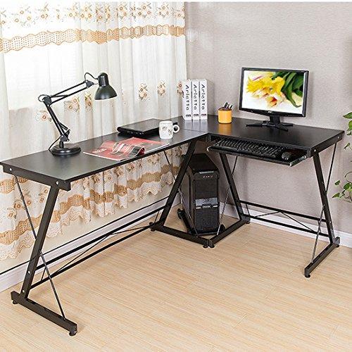 hlc-Bureau-dordinateur-dangle-en-forme-Meubles-Home-Office-bureau-robuste-Panneau-de-travail-avec-tagre-pour-clavier-CPU-support-de-rangement