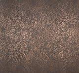 Papier-Tapete Braun mit Reflexionen Bronze Brush sandgestrahlt Beleuchtung. Estelle–55713.