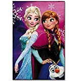Decke Plaid Frozen Elsa Anna Olaf Disney in Pail cm. 100 x 150 – 41449/2