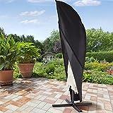 Xiliy Abdeckung für Sonnenschirm Wasserdicht Schutzhülle 210D Polyester Abdeckung Schützen von Gartenschirmen 265x100x70cm