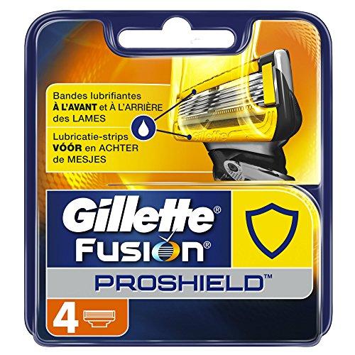 Ancienne Version/Gillette Fusion ProShield Lames De Rasoir Pour Homme - 4 Recharges