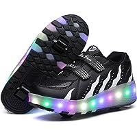 Pattini a rotelle per Bambini con Ruote 7 Colori Luci a LED Scarpe Sportive Ricarica USB Pattini in Linea Luminosi a…