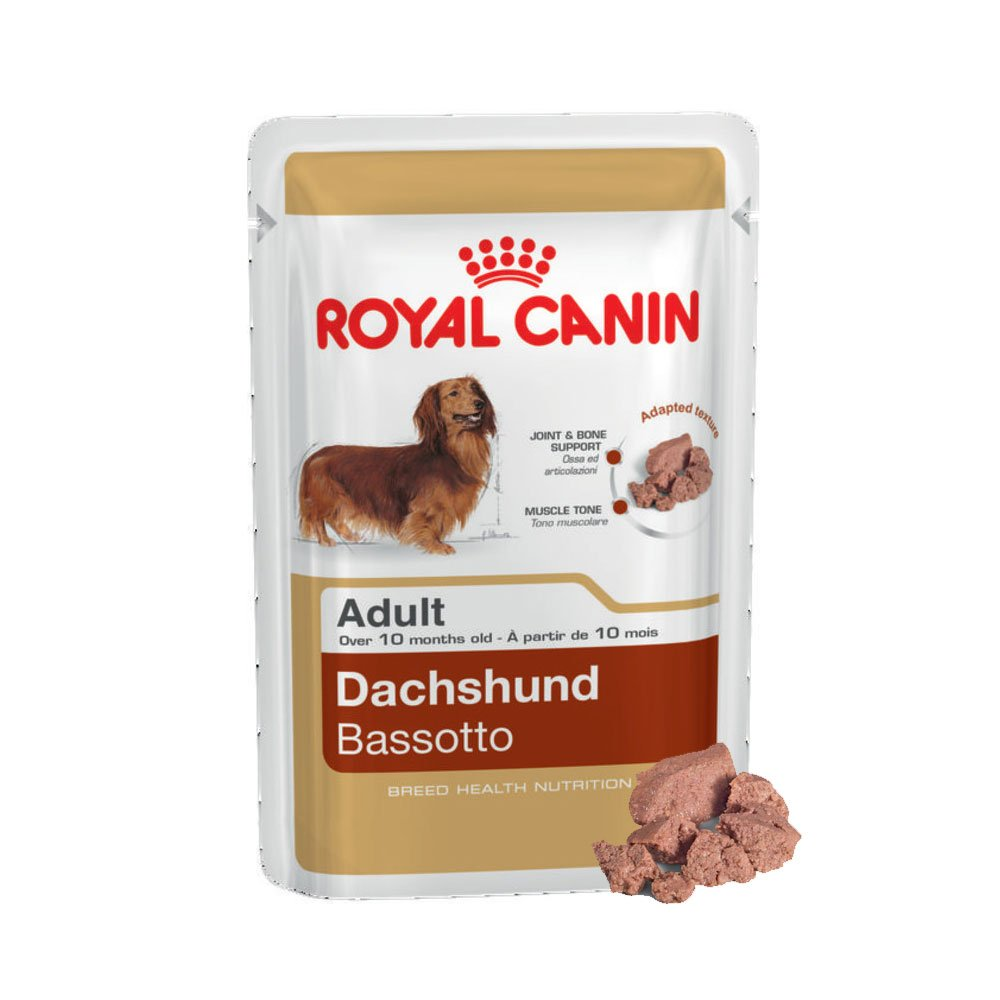 12 X ROYAL CANIN DACHSHUND WET POUCH DOG FOOD SUPPLIED BY MALTBY'S STORES