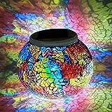 Solar Lampen Weihnachtsleuchten Gartenleuchten Garten Lampen, LED Magic Sonnenschein Kugel Leuchten, Farbe Wechselndene Schöne Nachtlicht Leuchtmittel, Wetterfest Kristall Glaskugel, Beste Tischlampen (E)