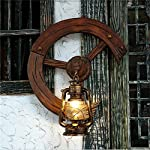 ZHIYUAN Kreative Luxus Dekoration Geschenk Lampen Persönlichkeit Mode Schlafzimmer Retro Holzplatte Eisen Kerosin geben Wand Lampe size:550*660(mm) (dieses Produkt Nr. bieten Glühbirne)