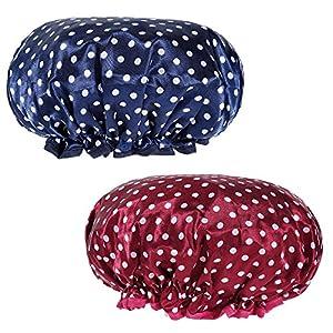 Rovtop Bonnet de Douche 2Pcs Bonnet de Bain pour Les Femmes