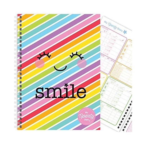 My Sporty Diary (12 meses) planificador de ejercicios, planificador de fitness, diario de ejercicios, hecho a mano, A5… 2