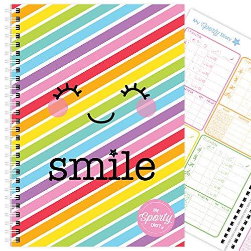 My Sporty Diary (12 meses) planificador de ejercicios, planificador de fitness, diario de ejercicios, hecho a mano, A5… 1