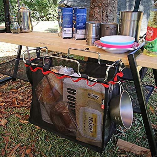Camping CELINEZL Outdoor Picknick Camping Faltbare Mesh Korb Metall Halterung Kochgeschirr Halter Veranstalter Rack - Metall-mesh-halter