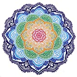 Mode Lotus Sonnen Runde Badetuch, Bequeme Picknickdecke, Mode Yoga Matte, Tischdecke, Sport Handtuch, Lotus 1.150 * 150cm