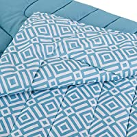 Home Box AtlantA Blake Printed Single Comforter, Blue