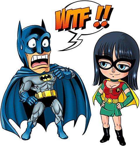 Pull Comics - Parodie Batman et Robin du manga One Piece - What the... !? (Dark Version) - Pull Noir - Haute Qualité (886) Noir