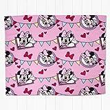 Disney Minnie Mouse Cafe Rotary Fleece Blanket, Multi-Colour