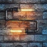 GKJ Wandleuchte Heimbeleuchtung Industrie Wind Retro Wasserrohr Lampe Metall Wandlampe Handmade Tube Wandleuchte