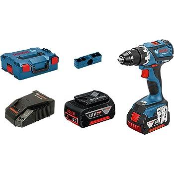 Bosch Professional Perceuse-Visseuse sans-fil GSR 18V-EC (2 Batteries de 4,0 Ah, 18 V, Ø de Vissage Maxi : 10 mm, dans L-BOXX)