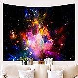 Tapisserie, Hippie Tapisserie, Dekoration Wandbehang, Twin Size Bettwäsche Tagesdecke,Universum, Nebel, 150x130cm