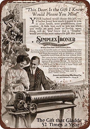 1916Simplex Bügeln Maschine Vintage Look Reproduktion Metall blechschild 30,5x 45,7cm (Pepsi Maschine)
