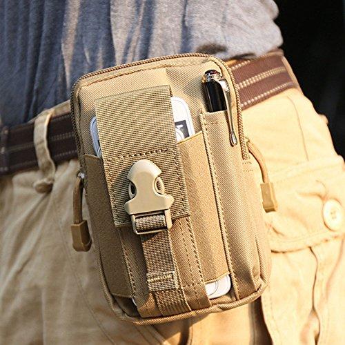 YUDODO Herren Gürteltasche Molle Pouch Taktische Hüfttaschen Sport Outdoor Survival Tasche Braun