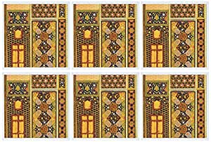 3dRose Arabian style multicolor abstract colorful Turkish Moroccan Islamic Islam Muslim vintage - Greeting Cards, 6 x 6 inches, set of 6 (gc_162526_1)