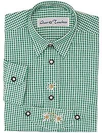 Kinder Trachtenhemd von Isar Trachten, sehr gut passend zur Lederhose, Farbe:Grün;Größe:104