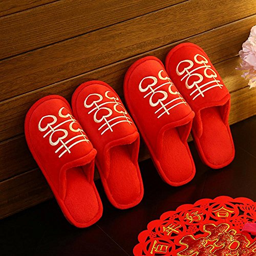 Y&HUNTUO Inverno sposato pantofole casa / inverno cotone pantofole / uomini e donne regali di nozze , 40-41 38-39