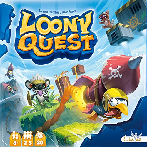 Libellud 002571 - Loony Quest, Brettspiel (Quest-reise-bücher)