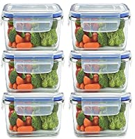 Air-Locked Food-Storage Set Airtight Lockage Airtight and spill proof, this set of AmazonBasics food-storage containers with secure-fitting lids keep wet or dry food stored, neatly organized, and fresh for longer, helping to retain flavour and reduce...