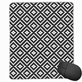 Aztec Black Mouse Pad Non Slip Rubber Backing Gaming Mouse Pad Cute 9.8 X 11.8 inch
